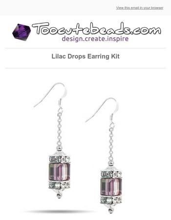 New Lilac Drops Earring Kit