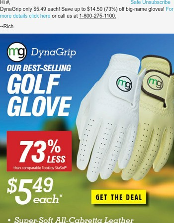 MG Golf has the best selection & lowest prices on Pro Golf Gloves, Golf Balls, Golf Bags, GPS Rangefinders and More.