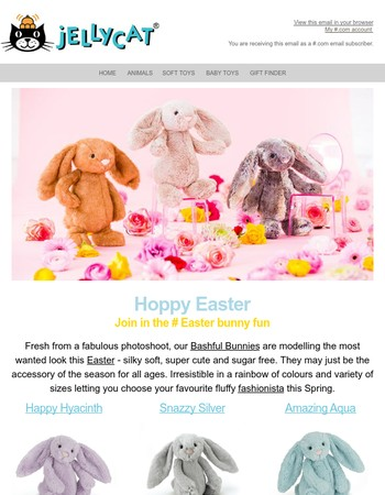 Discover a Jellycat bouncy bunny bonanza this Easter