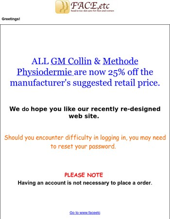 Additional discounts on GM Collin & Methode Physiodermie