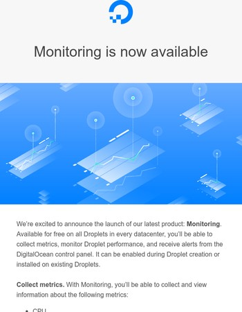 Introducing Infrastructure Monitoring on DigitalOcean!