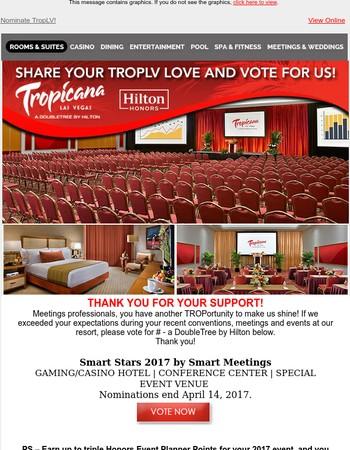 Vote For The Tropicana Las Vegas!