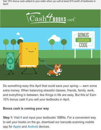 Save Spring With Easy 10% Bonus Cash