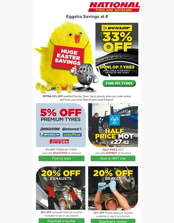 Eggstra Savings at National Tyres and Autocare