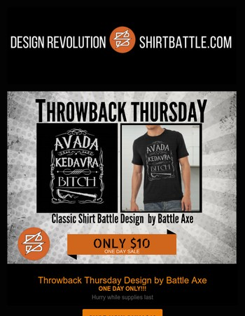 THROWBACK THURSDAY! $10 SALE- Awesome Design!