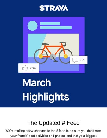 Check out the updated Strava feed and our favorite athlete stories from March
