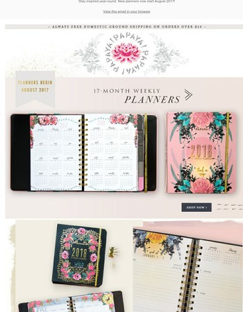 ✏  ✨  Dream Big with our New Weekly Planners