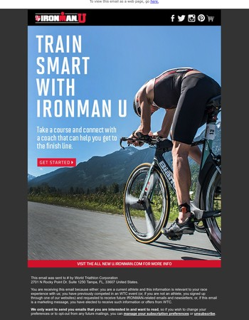 Get to the finish line with IRONMAN U