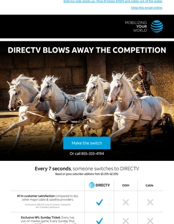 Compare DIRECTV and make your decision