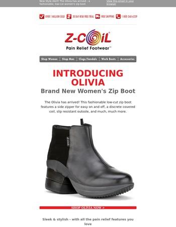 NEW ARRIVAL! Olivia - Stylish Women's Low-Cut Zip Boot