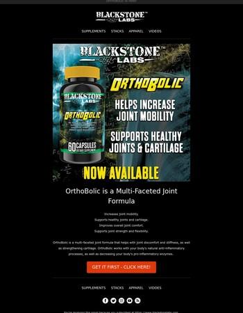 Blackstone Labs Newsletter