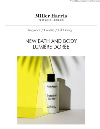 New Bath & Body in Lumière Dorée