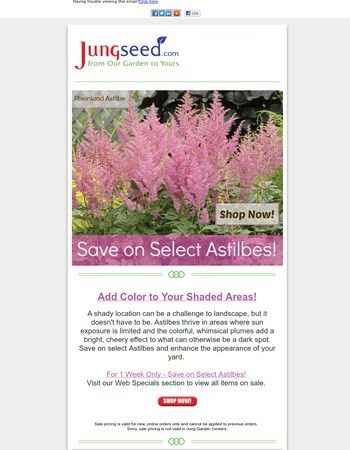Jung seed coupon code