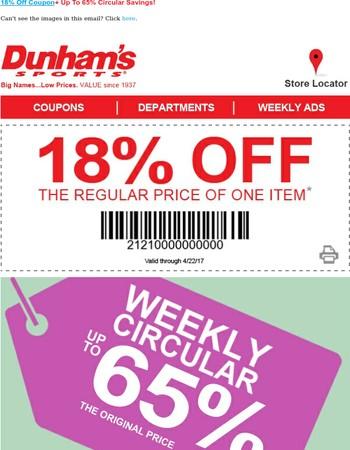 Up to ⑥⑤% Circular Savings + Bonus Coupons!