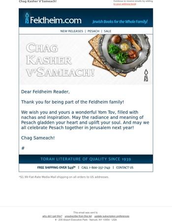 Passover Wishes from Feldheim