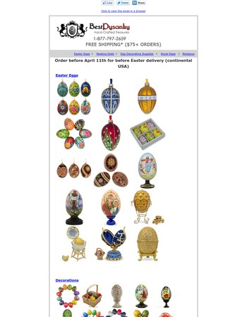 Easter Eggs, Decorations & Pysanky Supplies