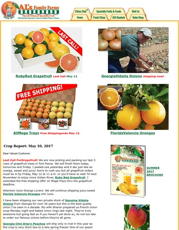 Last Call for Grapefruit and Free Shipping Special
