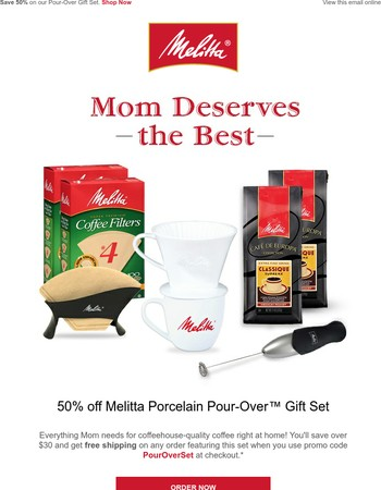 Don't miss this gourmet gift for mom — 50% off