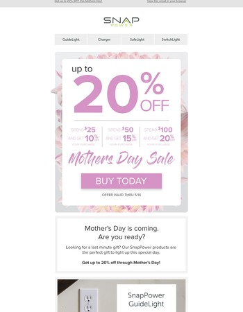 ❤ Mother's Day Special: Take Up To 20% Off  ❤