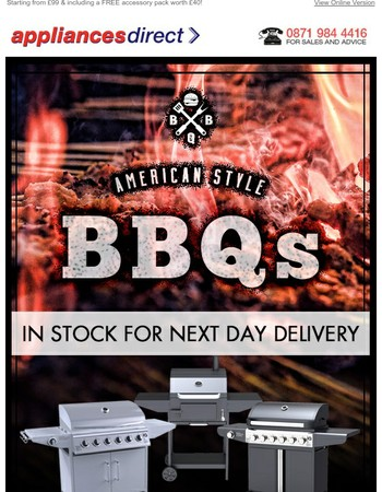Gas BBQs, Pizza Ovens & Smokers in stock now!