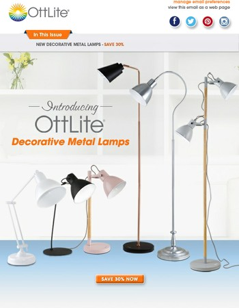 New Decorative Lamps - Save 30% with Coupon Code DECOR30