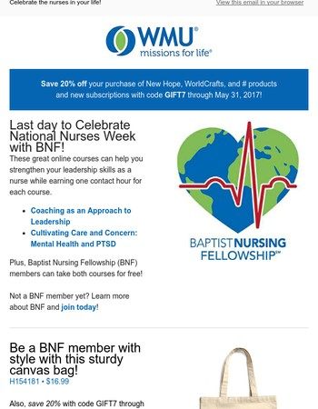 Did you know it is National Nurses Week?