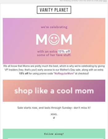 Not for Regular Mom's– For Cool Moms