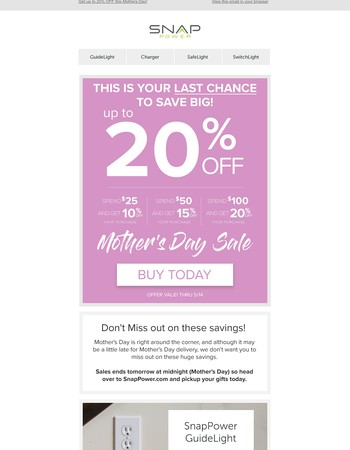 ❤Last Chance Mother's Day: Take Up To 20% Off ❤