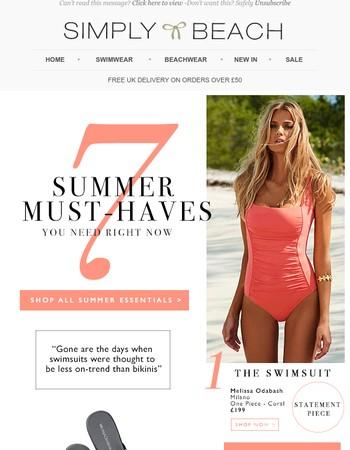 Summer Seven Must-Haves