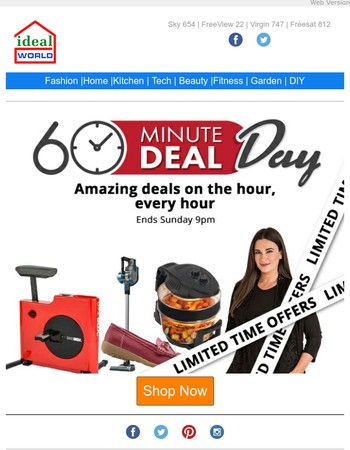 Amazing Deals on the Hour EVERY Hour!