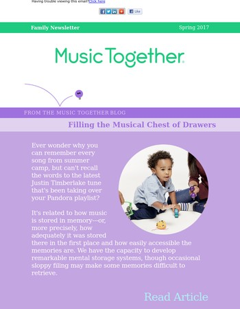 Spring News from Music Together Worldwide
