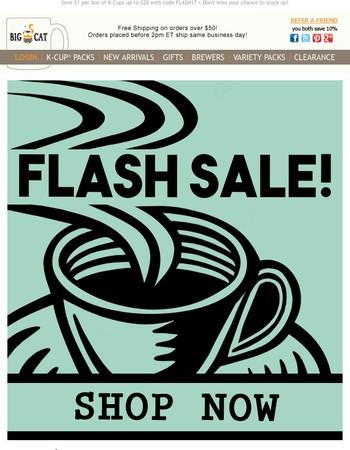 Flash Sale! – Save $1 per Box of K-Cups