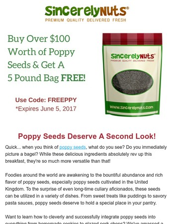 Poppy Seeds Deserve a Second Look!