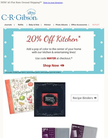 Your C.R. Gibson Special Offer