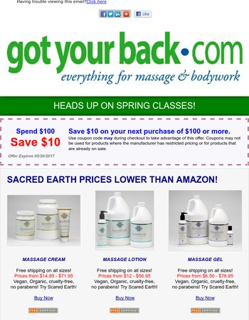 Sacred Earth Everyday Prices Lower than Amazon and $10 Coupon!