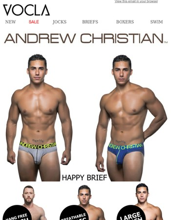 New Andrew Christian Underwear + Swimwear