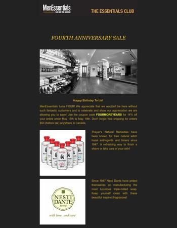 MenEssentials: Anniversary Sale!