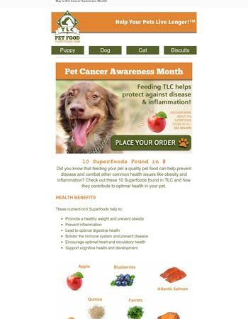 TLC Pet Food Newsletter