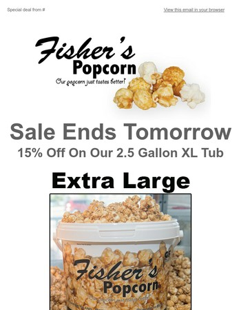 Extra Large Tub Sale Ends Tomorrow