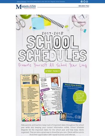 Earn Extra Credit w/ School Schedules!