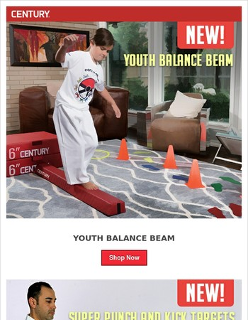 New: Balance Beam, Super Targets and Finger Armor