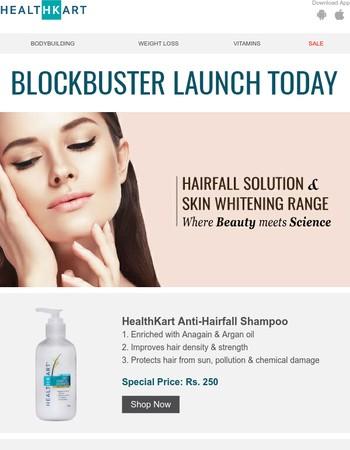 Fresh Arrivals: HealthKart Anti-Hairfall Shampoo, Serum & Radiance Cream