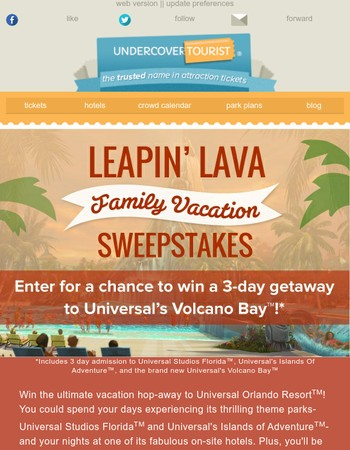 3-day hop-away celebrating Universal's Volcano Bay!