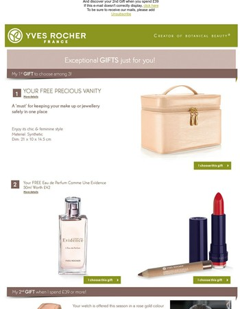EXCEPTIONAL GIFT Mary, get your FREE Gift among these 3!