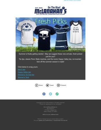 Fresh Picks to Kick off the Summer!