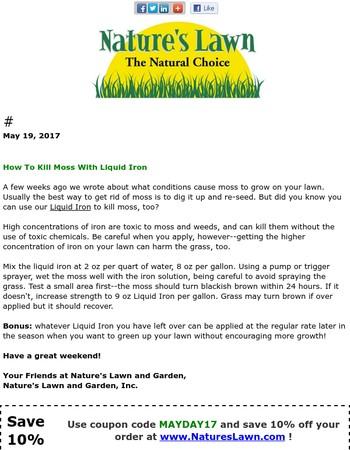 How to Kill Moss with Liquid Iron