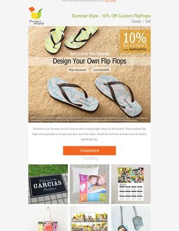 Summer Style - 10% Off Custom Flip Flops