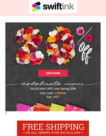 Save 20%: A Lovely Offer for Mother's Day