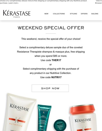 This Weekend Only! Choose Your Special Offer