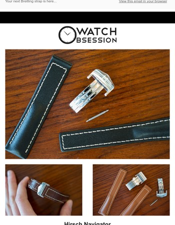 Introducing: Hirsch Navigator Deployment for BREITLING Watches